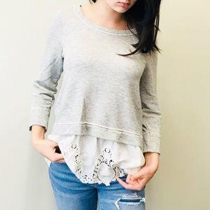 Anthropologie Postmark Layered Sweater Top